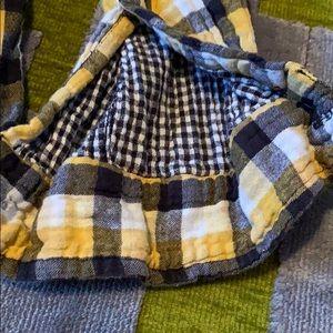 Gramicci Shirts - NICE GRAMICCI Men's LS sort/thick yellow/blue sqrs